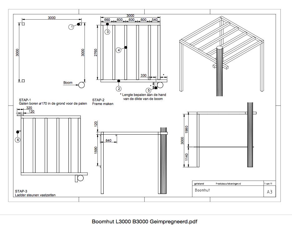 boomhut-geimpregneerd-hout