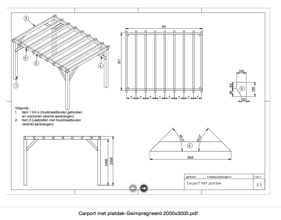 Zelf carport bouwen van hout