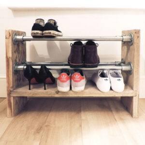 Zelf schoenenrek van steigerhout maken