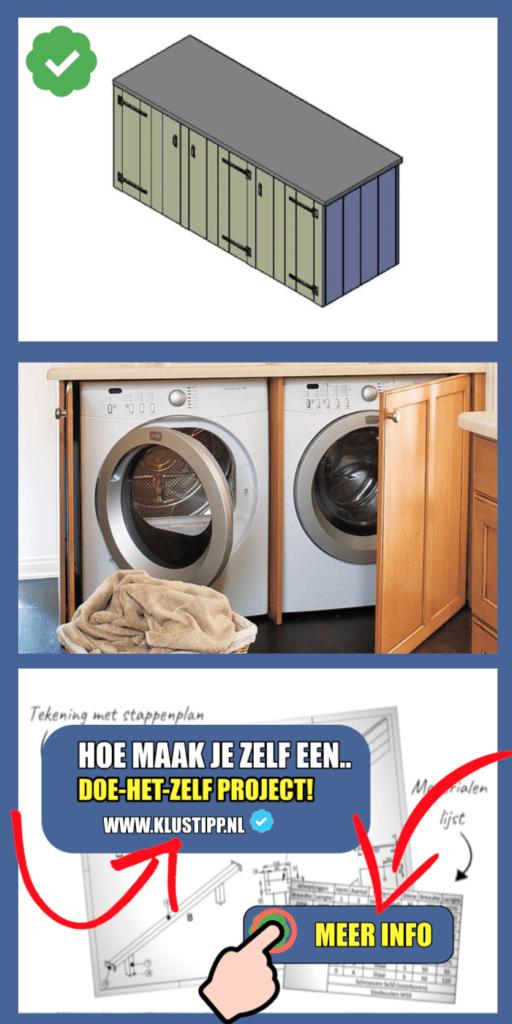 dubbel wasmachine kast maken