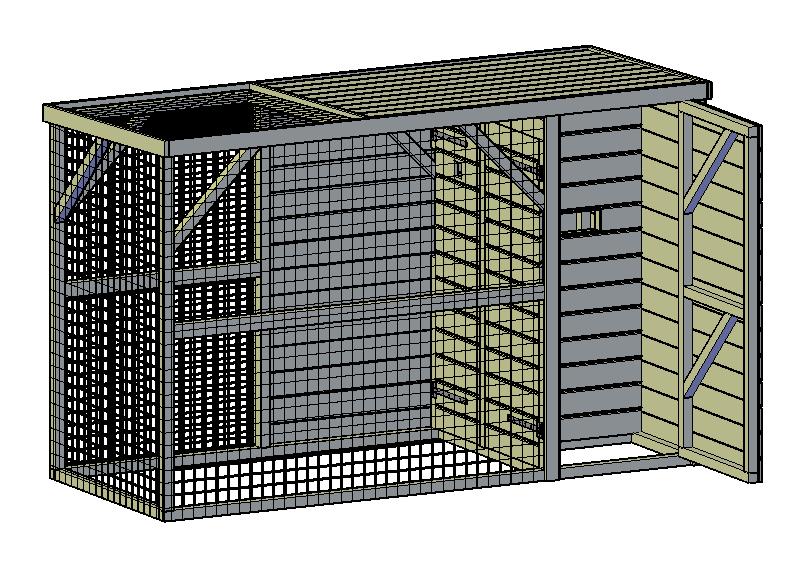 voliere maken met een bouwplan